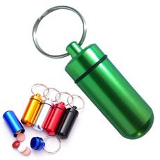 Box, pillboxe, cylinder, Key Chain