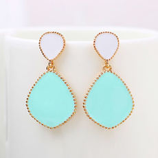 candycolorenamelwaterdropearring, danglestudearring, candycolorearring, cheap stud earrings