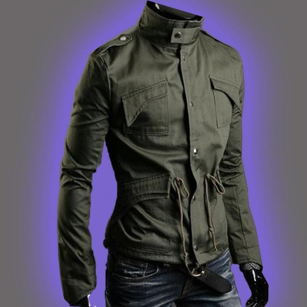 Slim Fit, Long Sleeve, Coat, slim