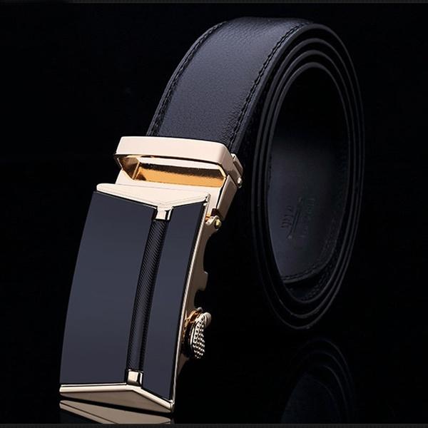 designer belts, mensleatherbeltautomaticbuckle, Leather belt, luxury men belt
