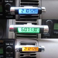 calendarclock, thermometerclock, Clock, carthermometer