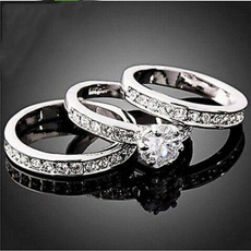 White Gold, Wedding, copperring, zirconring