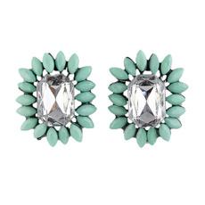 rhinestoneearringsstud, Jewelry, Hot Pink, Stud Earring