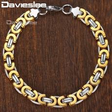 Steel, byzantinebracelet, 8MM, Chain bracelet