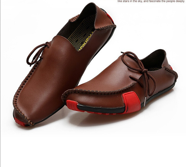 casual shoes, Flats, leather shoes, genuine leather