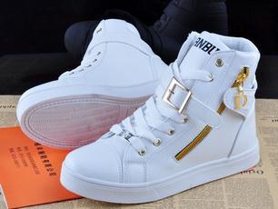 hightopsneaker, Flats, Sneakers, Zip