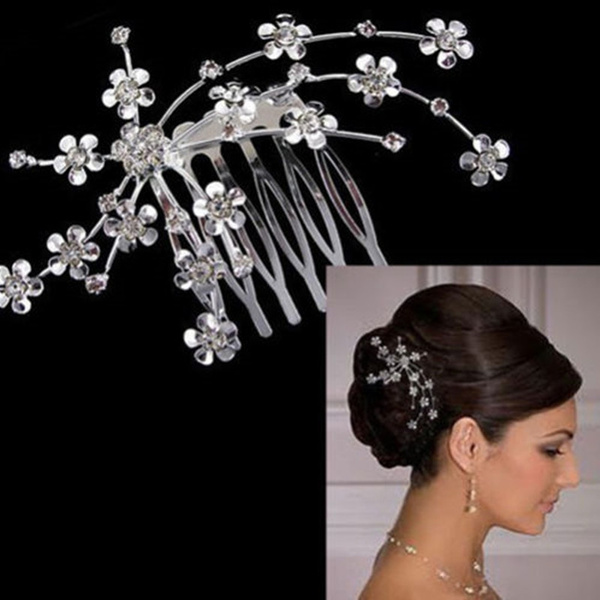 Flowers, Jewelry, Plum, Rhinestone