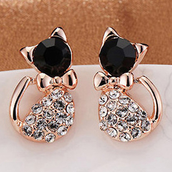Crystal, bowtieearring, Gifts, Stud Earring