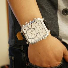 leather, bigplatewatch, slim, Watch