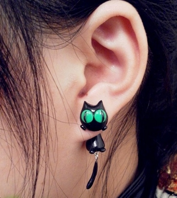 Jewelry, Vintage, punk, Cats