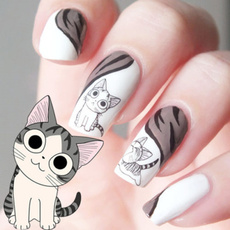 cute, nail stickers, art, Belleza