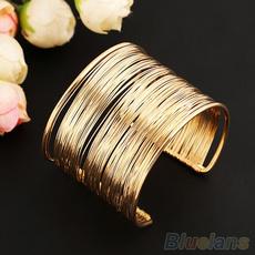 Fashion, Jewelry, gold, multi-layer bracelet