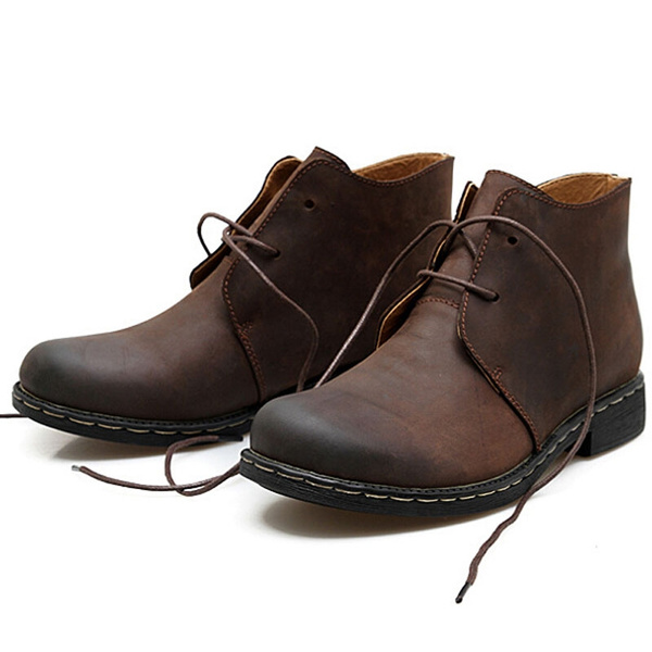 Vintage Fashion Leather Boots Casual