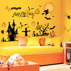 Funny, room, plaster, Halloween