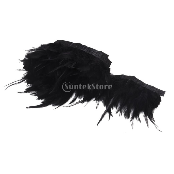Sewing, black, Handmade, feather