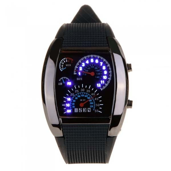 LED Watch, Steel, quartz, Stainless