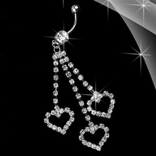 Steel, Heart, navel rings, Jewelry