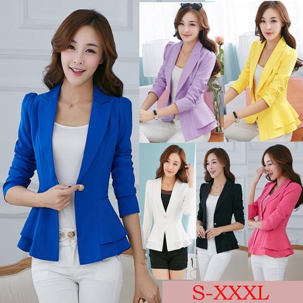 Plus Size, Blazer, candy color, korean style