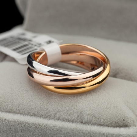 Couple Rings, goldplated, Rose, Gifts