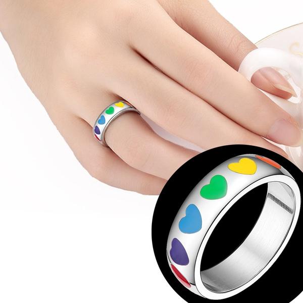 Steel, Heart, Love, wedding ring