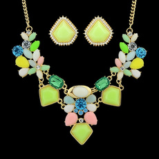 colorfulflowerjewelryset, Bridal Jewelry Set, Stud Earring, Food