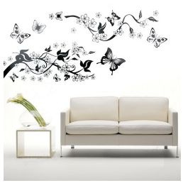 butterfly, Flowers, living room, Wall Decal