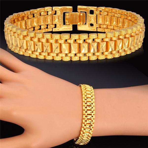 platinum, cuff bracelet, Chain Link Bracelet, chunkybracelet