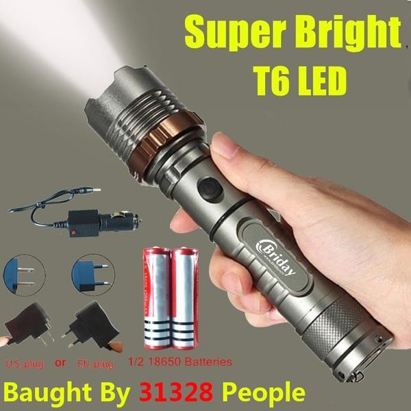 focusablealuminumrechargeableflashlight, Lighting, Remote, Sports & Outdoors