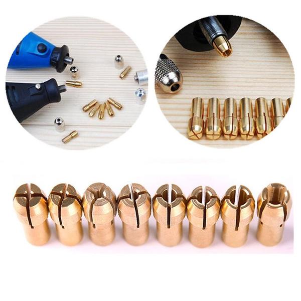 Brass, colletadapter, cableclip, Tool