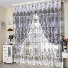 bedroomcurtain, slidingdoorcurtain, white, europeanclassicalstyletullewindowscreen