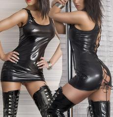 Mini, Vest, open back dress, latexlingerie