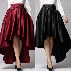 long skirt, slim, highwaistedpleatedskirt, vestidoslongo