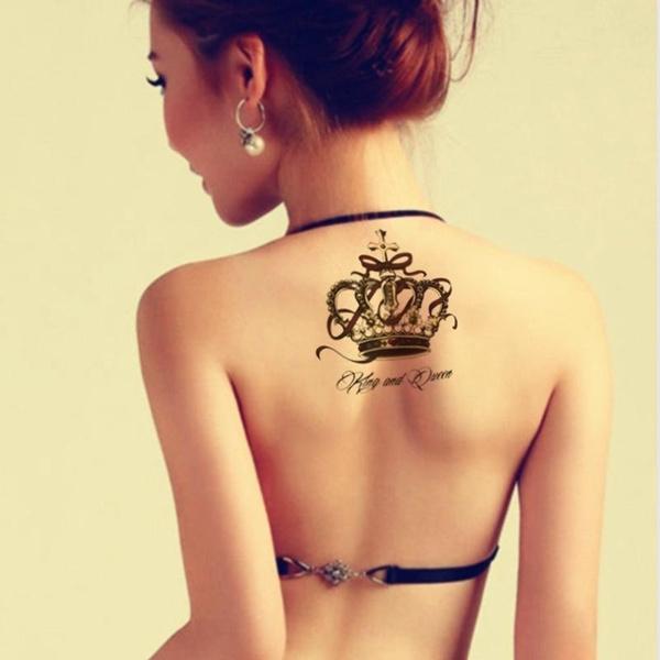 tattoo, bodyartpainting, sexy Women's Fashion, temporarytattoocrown