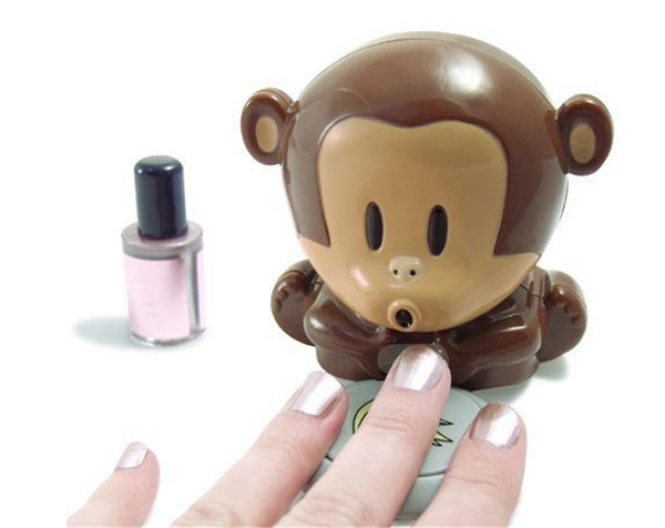 Nails, monkeynailpolishdryer, art, creativenailpolishdryer