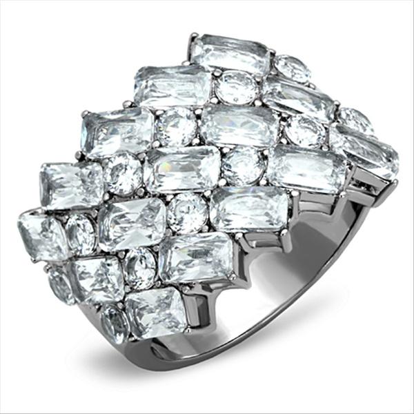 Cubic Zirconia, Steel, Fashion, wedding ring