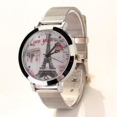 metalstrapwatch, quartz, Love, Jewelry