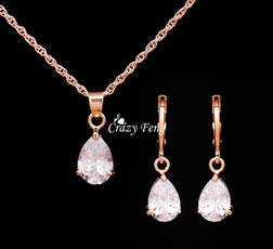 Cubic Zirconia, goldplated, goldplatedjewerly, gold