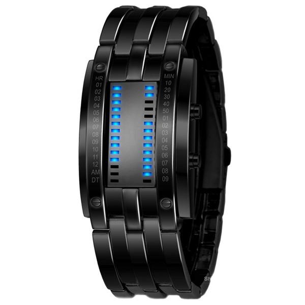 LED Watch, Blues, binarywatch, Waterproof Watch