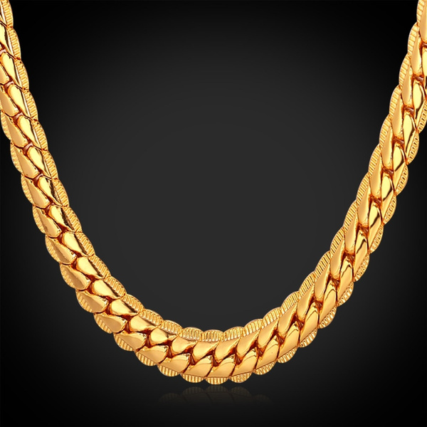 goldplated, Chain Necklace, Fashion, goldchainnecklace