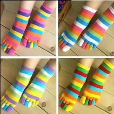 Hosiery & Socks, rainbow, fivefingersock, bestfriendssock