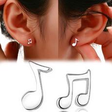 Stud Earring, cute, Music, Jewelry