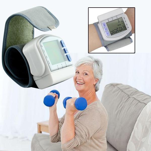 NEW CK-102S LCD Digital Wrist Blood Pressure Monitor Medical Arm Meter   Wish