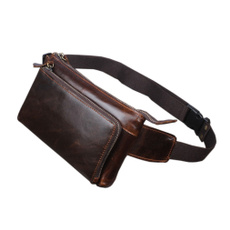 Fashion, genuine leather bag., Hiking, Men