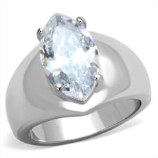 Cubic Zirconia, Steel, Stainless Steel, wedding ring