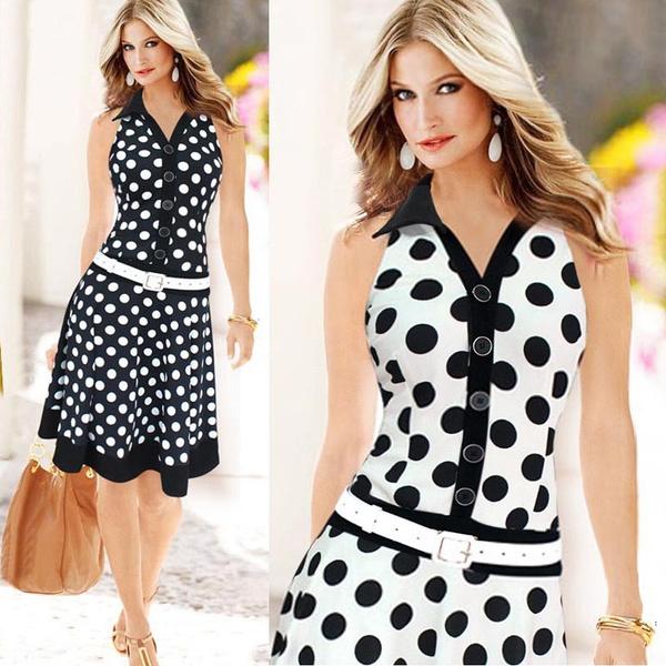 Summer, Fashion, polka dot, Dress