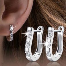 Sterling, Hoop Earring, 925 sterling silver, Jewelry