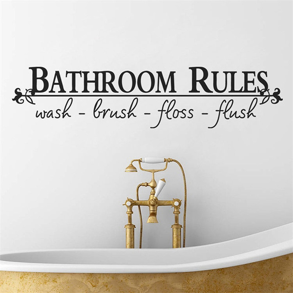 bathroomruleswallsticker, decorvinylart, Bathroom, art