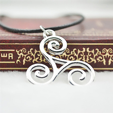 Jewelry, necklace charm, silver, vintage necklace