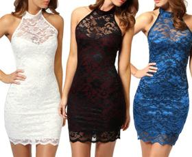 Mini, Club Dress, Plus Size, Halter