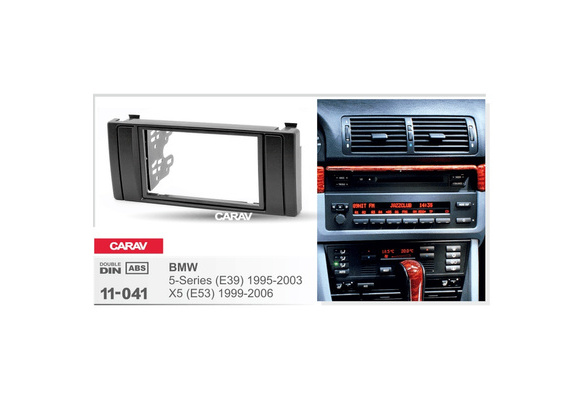 5 Double 2 DIN Radio Fascia for BMW X5 E53 E39 Stereo Facia Frame Panel Dash Mount Kit Adapter Trim Bezel 178x102mm